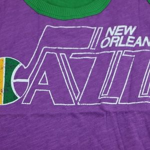 Tops - New Orleans Jazz Womens Throwback Color Block Tank